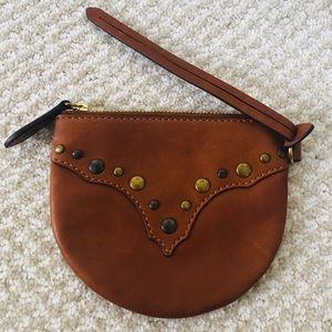 🆕 Frye studded coin pouch - brown (keys/coins)